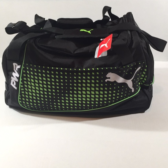 3290fe49db PUMA Sports Bag evoPOWER Medium Puma Black-Green